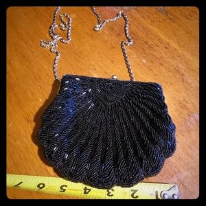 Vintage La Regale Black Beaded Purse
